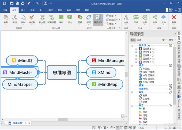 思维导图软件 Mindjet MindManager 2019 v19.1.198中文破解版 点击