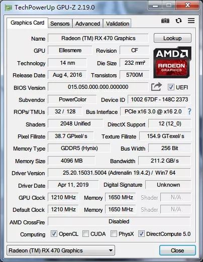 显卡检测神器 TechPowerUp GPU-Z v2.38.0 汉化单文件版 v2.38